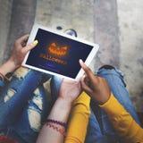Concept de symbole de Halloween de lanterne de Jack O Image libre de droits