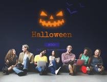 Concept de symbole de Halloween de lanterne de Jack O Photo libre de droits