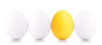 Concept de symbole de succès avec l'oeuf blanc Image libre de droits