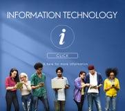 Concept de système informatique de technologie de l'information images libres de droits
