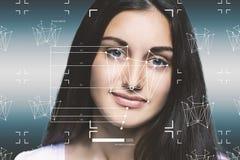 Concept de système de reconnaissance faciale photo stock