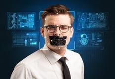 Concept de système de reconnaissance faciale images libres de droits