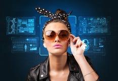 Concept de système de reconnaissance faciale images stock