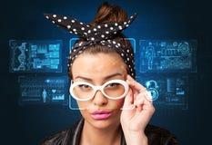 Concept de système de reconnaissance faciale photographie stock