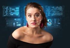 Concept de système de reconnaissance faciale photos stock