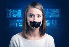 Concept de système de reconnaissance faciale photos libres de droits