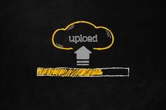 Concept de téléchargement de nuage Photographie stock libre de droits