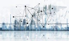 Concept de télécommunication mondiale et de mise en réseau avec la carte OV du monde illustration de vecteur