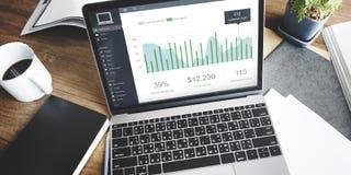 Concept de tableau de bord de moniteur d'activité de client Images stock