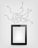 Concept de tablette de Digitals illustration libre de droits