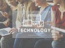 Concept de Tablette de téléphone d'ordinateur de technologie Photo stock