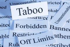 Concept de tabou photo stock