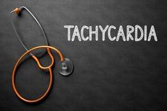 Concept de tachycardie sur le tableau illustration 3D Photographie stock