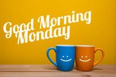 Concept de tasse de café de lundi bonjour Photographie stock libre de droits