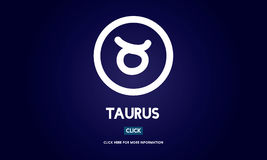 Concept de Taurus Zodiac Horoscope Sign Galaxy Images stock