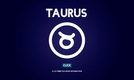 Concept de Taurus Zodiac Horoscope Sign Galaxy Image stock