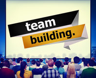 Concept de Team Building Cooperate Cooperation Management Photos stock