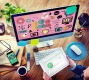 Concept de Team Corporate Connection Share Community images libres de droits