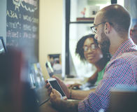 Concept de Team Corporate Planning Communication Internet Photo stock