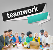 Concept de Team Corporate Teamwork Collaboration Assistance photographie stock libre de droits
