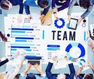 Concept de Team Corporate Teamwork Collaboration Assistance photographie stock libre de droits