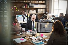 Concept de Team Discussion Data Marketing Chart d'affaires photo libre de droits
