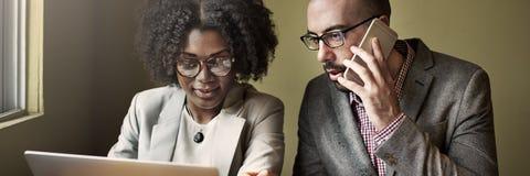 Concept de Team Partner Business Discussion Communication Photos stock