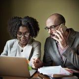 Concept de Team Partner Business Discussion Communication Photographie stock libre de droits