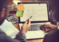 Concept de Team Partner Business Discussion Communication Photos libres de droits