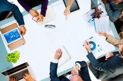 Concept de Team Planning Board Meeting Strategy d'affaires de diversité images libres de droits