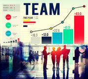 Concept de Team Teamwork Corporate Data Analysis photo libre de droits