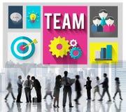 Concept de Team Teamwork Corporate Group Partnership illustration de vecteur