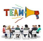 Concept de Team Teamwork Corporate Partnership Collaboration image stock
