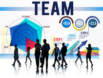 Concept de Team Teamwork Corporate Partnership Cooperation photographie stock