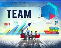 Concept de Team Teamwork Corporate Partnership Cooperation image libre de droits