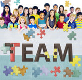 Concept de Team Teamwork Together Togetherness Unity Photos stock