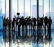 Concept de Team Teamwork Togetherness Business Coworker de succès Image stock