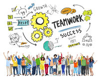 Concept de Team Together Collaboration People Celebration de travail d'équipe Photos stock