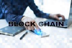 Concept de technologie de Blockchain Transfert d'argent d'Internet Cryptocurrency photo libre de droits