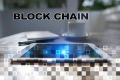 Concept de technologie de Blockchain Transfert d'argent d'Internet Cryptocurrency photo stock
