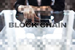 Concept de technologie de Blockchain Transfert d'argent d'Internet Cryptocurrency image stock