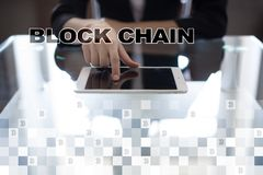 Concept de technologie de Blockchain Transfert d'argent d'Internet Cryptocurrency photo stock