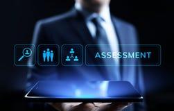 Concept de technologie d'affaires d'analytics de mesure d'évaluation d'évaluation images libres de droits
