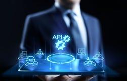 Concept de technologie d'API Application Programming Interface Development illustration stock