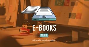 Concept de technologie d'innovation de littérature de media d'E-lecteur d'E-livres illustration de vecteur