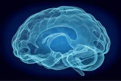 Concept de technologie d'intelligence artificielle, rendu 3D Photo stock