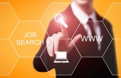 Concept de technologie d'Internet d'affaires de carrière de Job Search Human Resources Recruitment Images stock