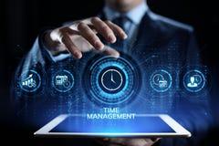 Concept de technologie d'Internet d'affaires de planification de projets de gestion du temps images stock
