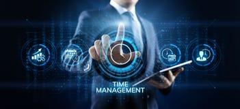 Concept de technologie d'Internet d'affaires de planification de projets de gestion du temps photographie stock libre de droits