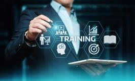 Concept de technologie d'Internet d'affaires de qualifications d'apprentissage en ligne de Webinar de formation image libre de droits